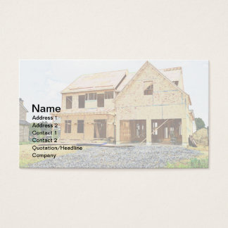 new single family home under construction business card