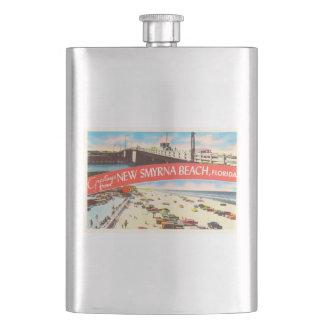 New Smyrna Beach Florida FL Old Travel Souvenir Flask