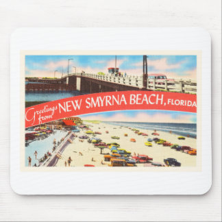 New Smyrna Beach Florida FL Old Travel Souvenir Mouse Pad