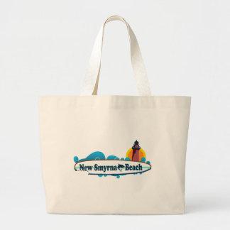 New Smyrna Beach. Large Tote Bag