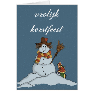 new snow man Christmas card snow Netherlands