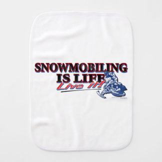 NEW-SNOWMOBILING-IS-LIFE BURP CLOTH