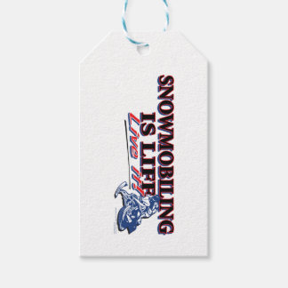 NEW-SNOWMOBILING-IS-LIFE GIFT TAGS