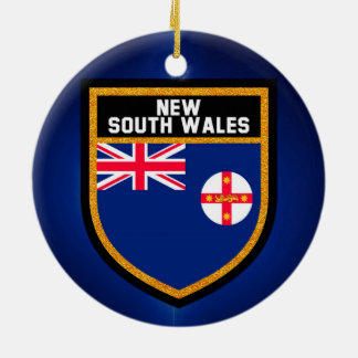 New South Wales  Flag Ceramic Ornament