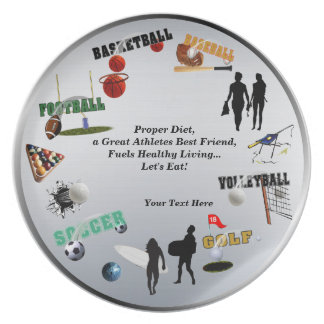 New Sports Collage 10 Inch Melamine Plate