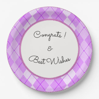 NEW-Spring-Beauty-Argyle-Rope-CELEBRATION_TEMPLATE 9 Inch Paper Plate