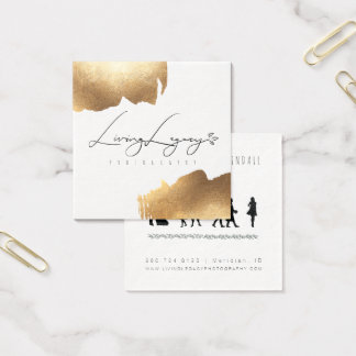 NEW SQUARE BUSINESS CARD | Gold Brush Minimalist