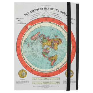 "New Standard Map of the World Flat Earth Earther iPad Pro 12.9"" Case"