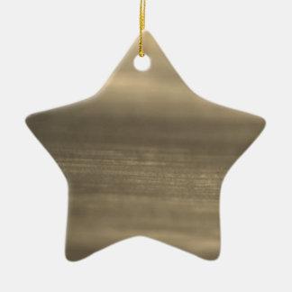 New star shape Element : brown Ceramic Star Ornament