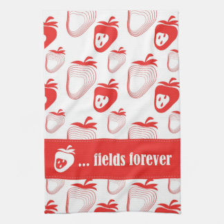 "NEW ""Strawberry ... fields forever"" Tea Towel"