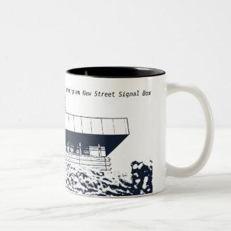 New Street Signal Box, Birmingham Two-Tone Coffee Mug