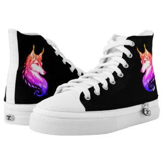New Striking Hand Drawn Sunset Wolf ZIPZ® Shoes