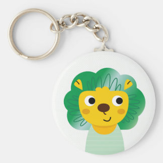New stylish button : fresh art Lion illustration Basic Round Button Keychain