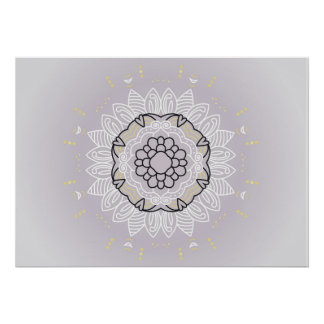 New stylish poster with hand-drawn Mandala art