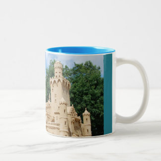 New swan stone, reproduction concluded from sand Two-Tone coffee mug