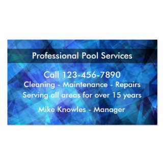 New Swimming Pool Service Business Card