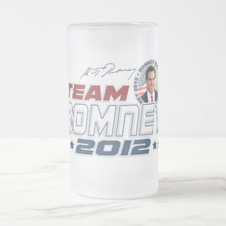 New Team Romney 2012 Frosted Glass Beer Mug