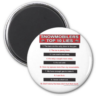 New-top-10-lies-Large-Red 2 Inch Round Magnet