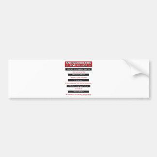 New-top-10-lies-Large-Red Bumper Sticker