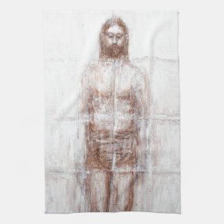 New Turin Shroud (Contemporary Realism Jesus) Kitchen Towel