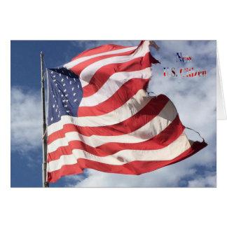 New U.S. Citizen : Flag Flying Card