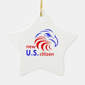 NEW US CITIZEN CERAMIC ORNAMENT