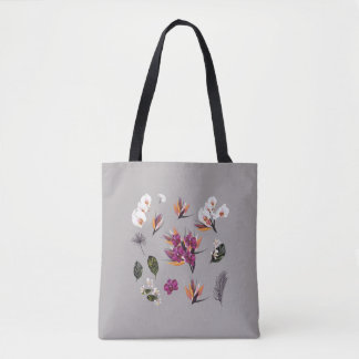 New vintage floral elegant ladies bag / Grey