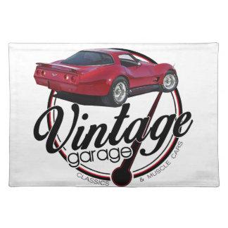 new vintage garage vette placemat