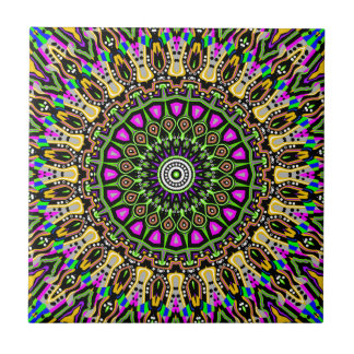 New Vision No 5 Kaleidoscope Tile