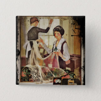 New Washing Machine Mother and Daughter 2 Inch Square Button