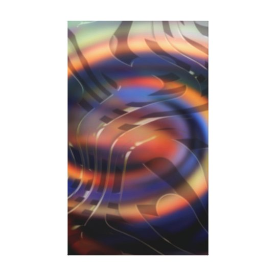 New Waves Abstract Art Canvas Print