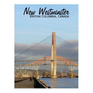 New Westminster Quay Boardwalk and Harbour Postcard