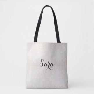 NEW-White-Damask_Bridal-Favor-Tote's-Shoulder-Bag' Tote Bag