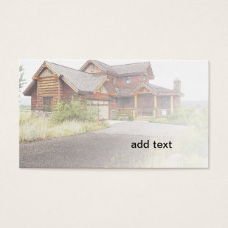 new wood house in Colorado Business Card