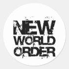 New World Order Classic Round Sticker