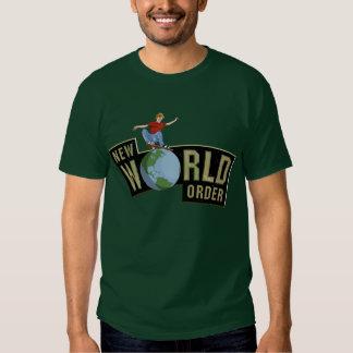 New world order skateboarding t-shirt