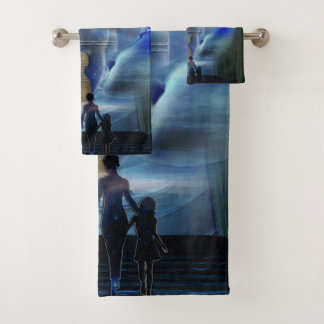New world visions bath towel set