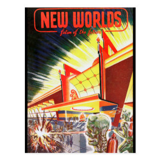 New Worlds 03 1952_Pulp Art Postcard