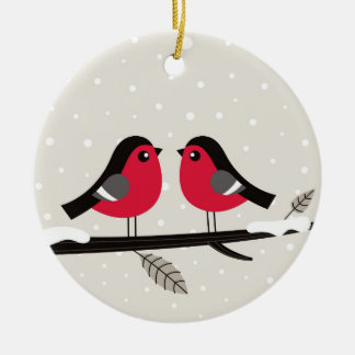 New xmas ornament with 2 Love birds