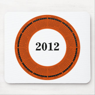 New Year 2012 Round Calendar Mouse Pad