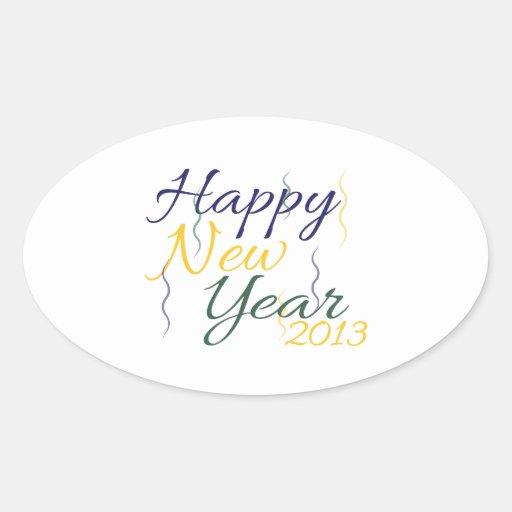 New Year 2013 Oval Sticker