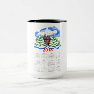 New Year 2018 greeting calendar Mug