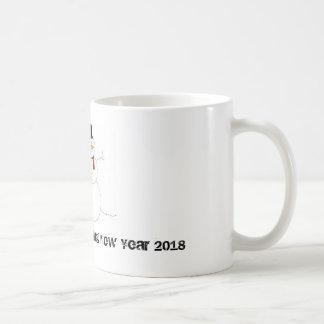 New Year 2018 snowman mug
