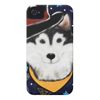 New Year Alaskan Malamute iPhone 4 Cover