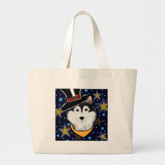 New Year Alaskan Malamute Large Tote Bag