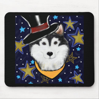 New Year Alaskan Malamute Mouse Pad