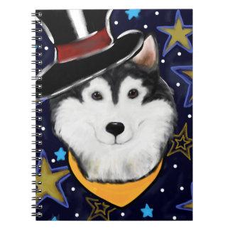 New Year Alaskan Malamute Notebook