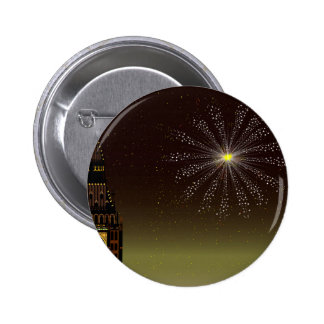 New Year And Fireworks 2 Inch Round Button