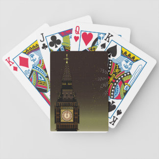 New Year And Fireworks Poker Deck