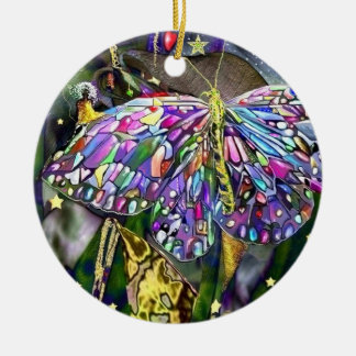 New Year Butterfly! Ceramic Ornament